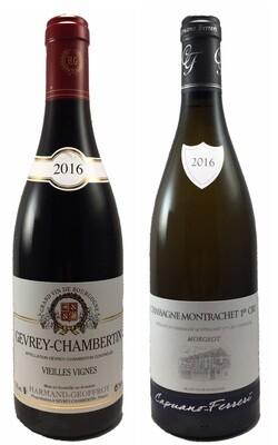 Coffret Prestige 2 bouteilles de Bourgogne (un Rouge et un Blanc)