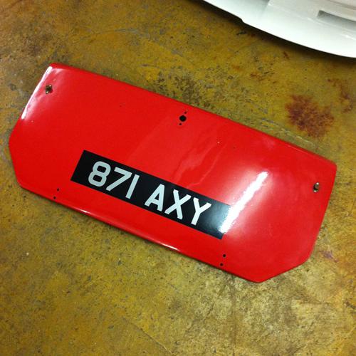 Austin A40 Farina Countryman Fibreglass bootlid