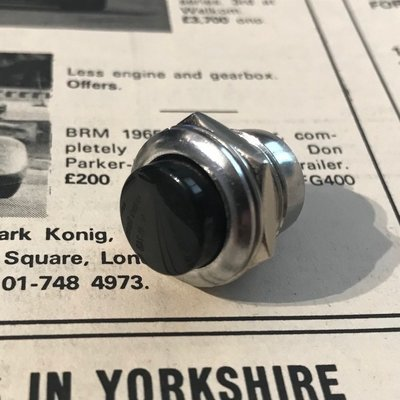 Classic car washer pump electric push button - conversion from Lucas GWW102