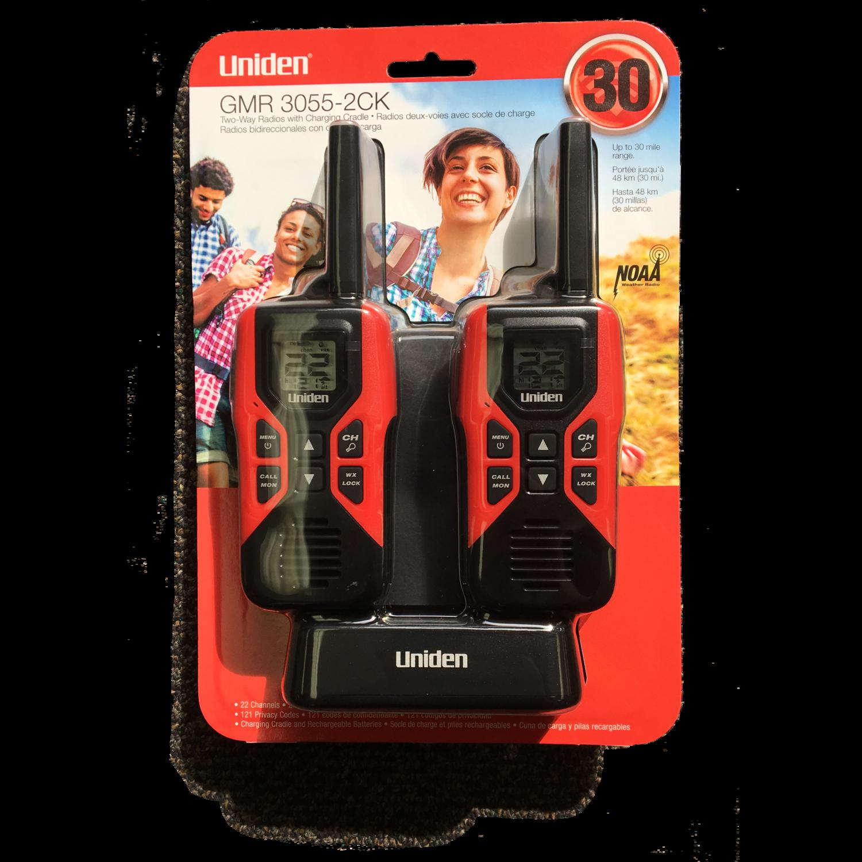 Uniden 2 Way Radios with Charging Cradle