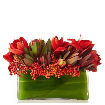 Lush Floral Holiday Centerpiece