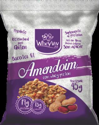 Biscoito WheyViv sabor Amendoim - Pacote 45g