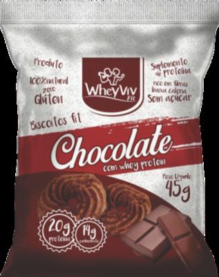 Biscoito WheyViv sabor Chocolate - Pacote 45g