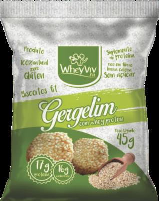 Biscoito WheyViv sabor Gergelim - Pacote 45g