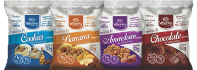 COMBO Wheyviv CBAC (Cookies/Banana/Amendoim/Chocolate) - 20 UNIDADES