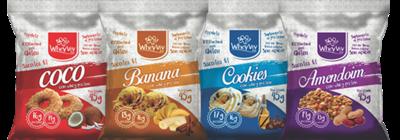 COMBO Wheyviv CBCA (Coco/Banana/Cookies/Amendoim) - 20 UNIDADES