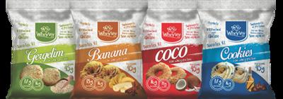 COMBO Wheyviv GBCC (Gergelim/Banana/Coco/Cookies) - 20 UNIDADES