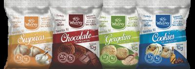 COMBO Wheyviv SCGC (Suspiros/Chocolate/Gergelim/Cookies) - 20 UNIDADES