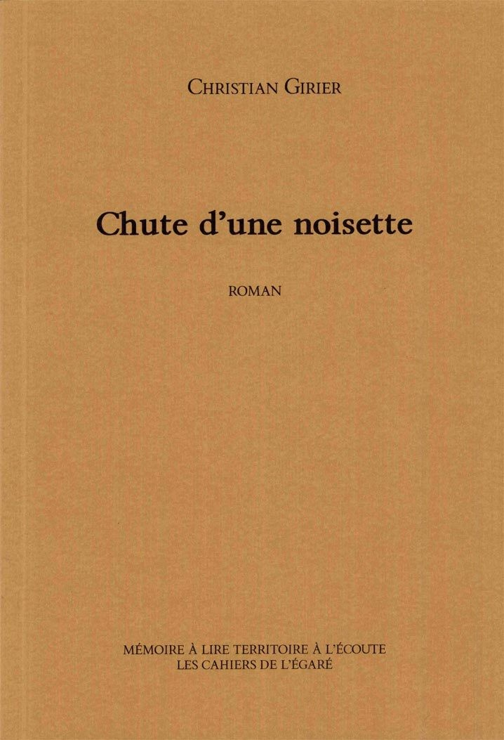 Chute d'une noisette, par Christian Girier- frais de port inclus