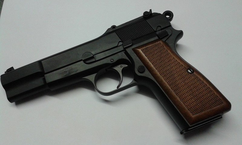 WE Browning High Power Gas Blowback Pistol