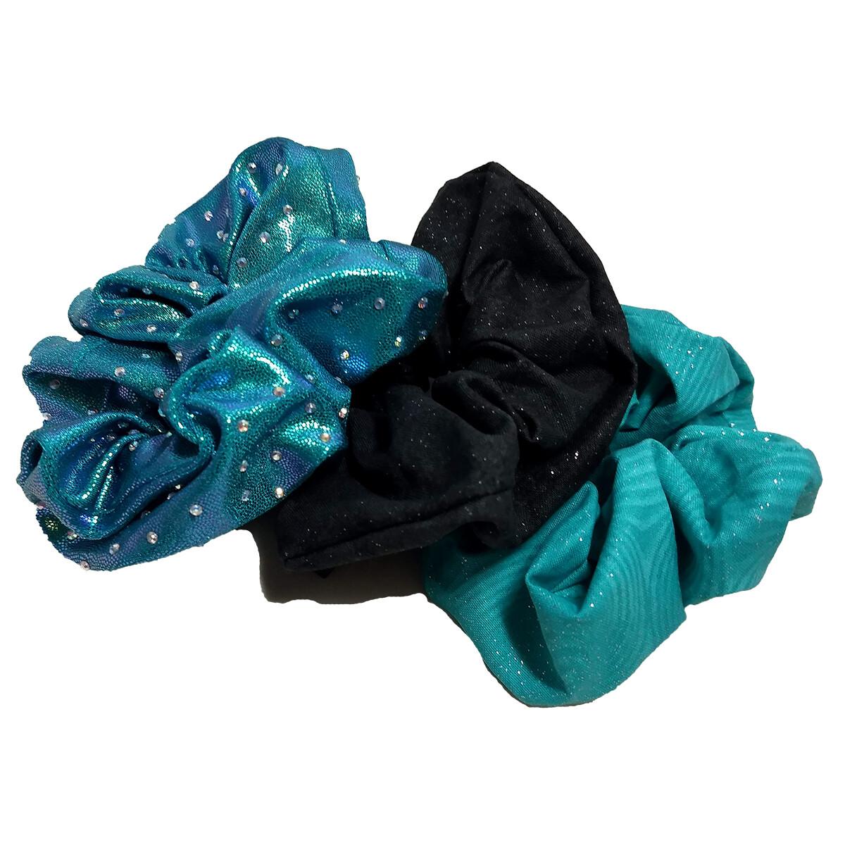 Bling & Sparkle Set Scrunchies (set of 3)