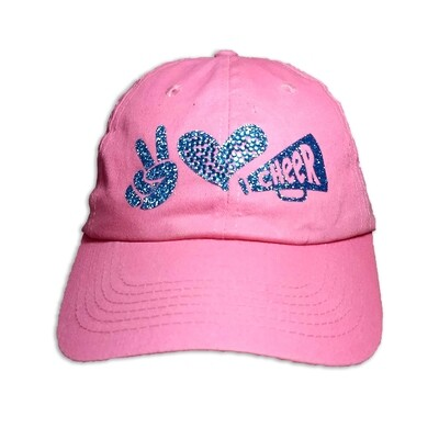 Peace Love Cheer Cap