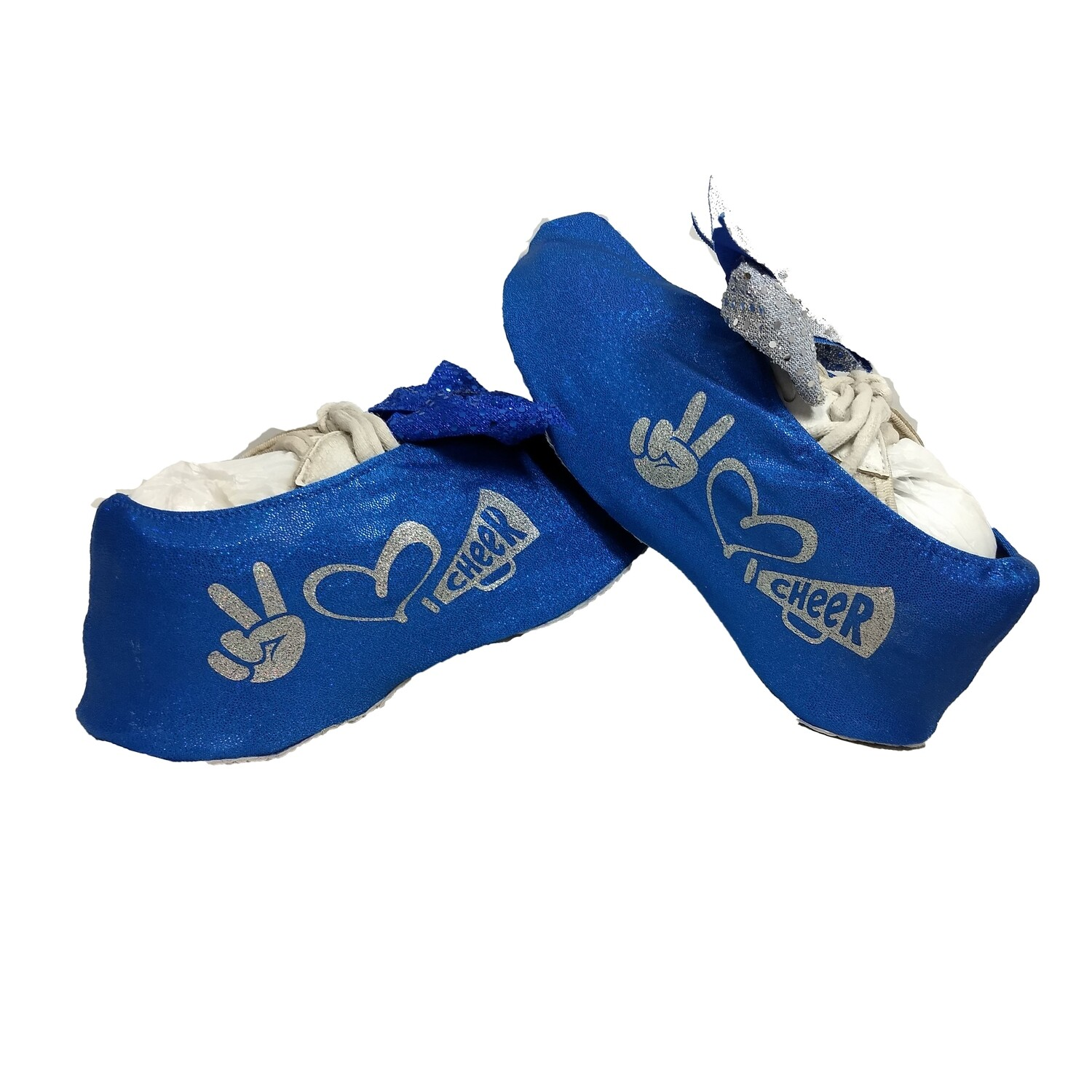 Peace Love Cheer- Shoe Covers
