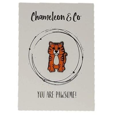 Tiger Enamel - You Are Pawsome!