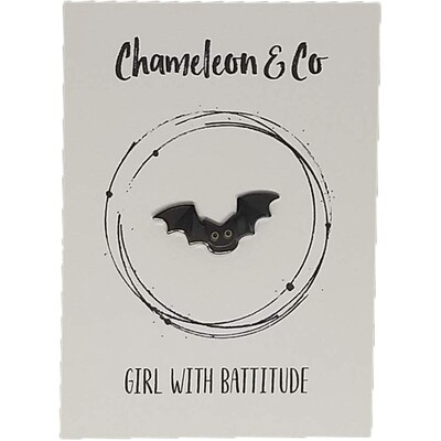 Bat Enamel - Girl With Battitude!