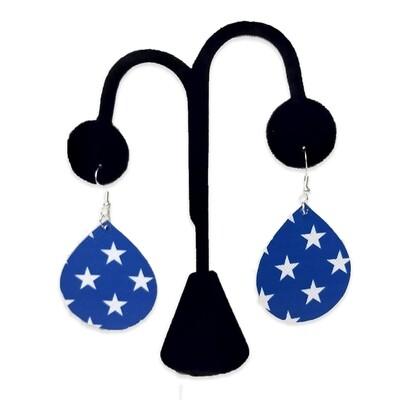 White Star Teardrop Earrings