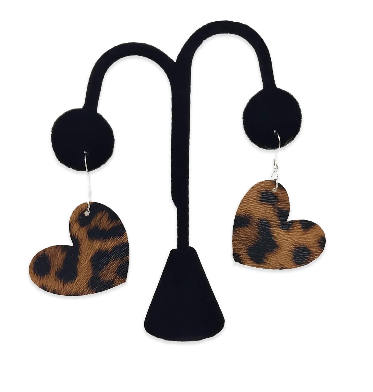 Leopard Heart Earrings