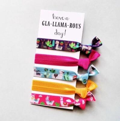 Glam-Llama-rous  - Hair Ties