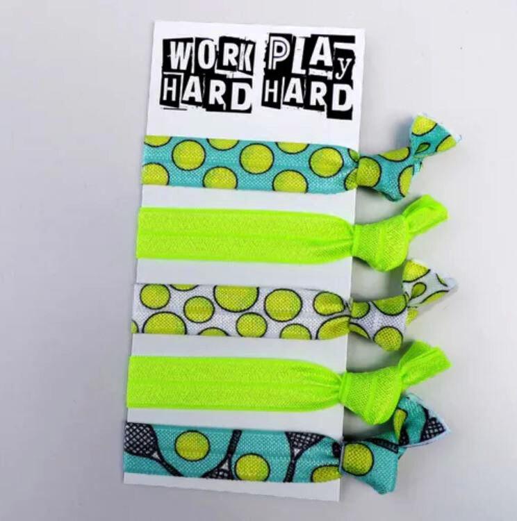 Work Hard, Play Hard - Hair Ties