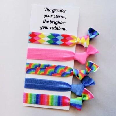 Rainbow  - Hair Ties