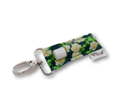 Teal Floral Lippy Clip