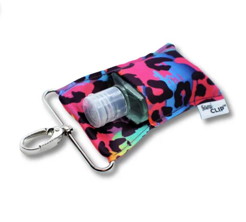 Neon Leopard Sani-Clip