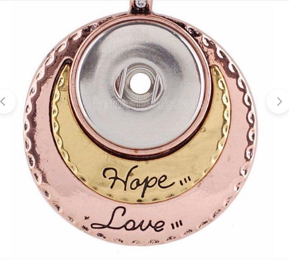 Hope, Love Snap Pendant