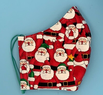 Youth Packed Santa Clause Christmas Fitted Mask
