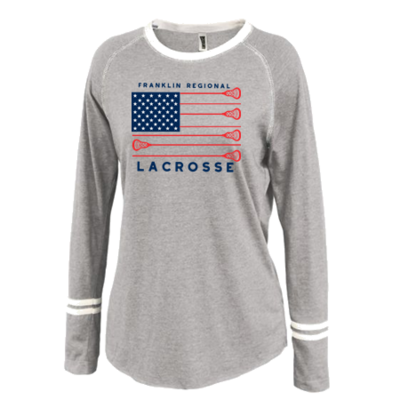 2020 FR LAX LADIES' Ringer Stripe Crew