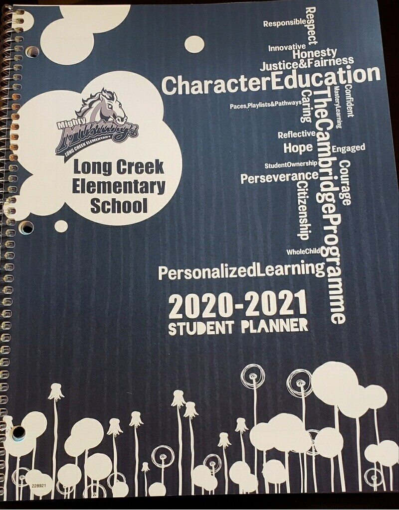 20-21 School Planner Blue K-2