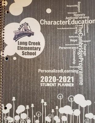 20-21 School Planner Grey 3-5