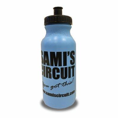 SAMI'S CIRCUIT blue water bottle