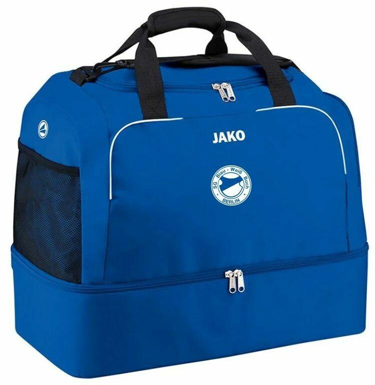 Jako Sporttasche mit Bodenfach Classico royal SG Blau Weiß Buch