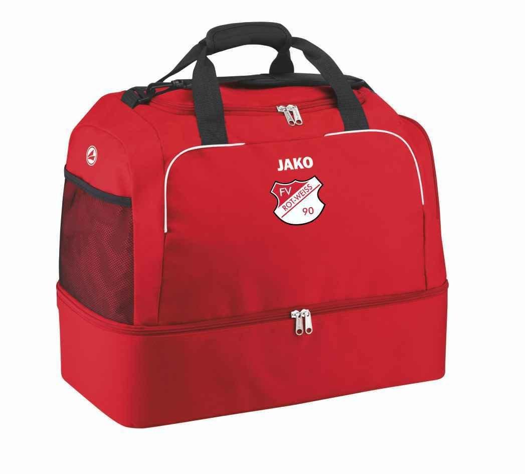 Jako Sporttasche mit Bodenfach Classico rot FV Rot Weiß Hellersdorf