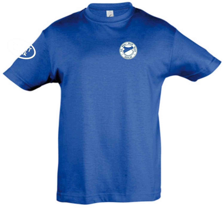 T-Shirt Baumwolle royal SG Blau Weiß Buch