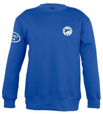 Sweat-Shirt Baumwollmischgewebe royal SG Blau Weiß Buch