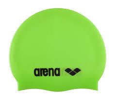 Arena Classic Silicone Schwimmkappe grün