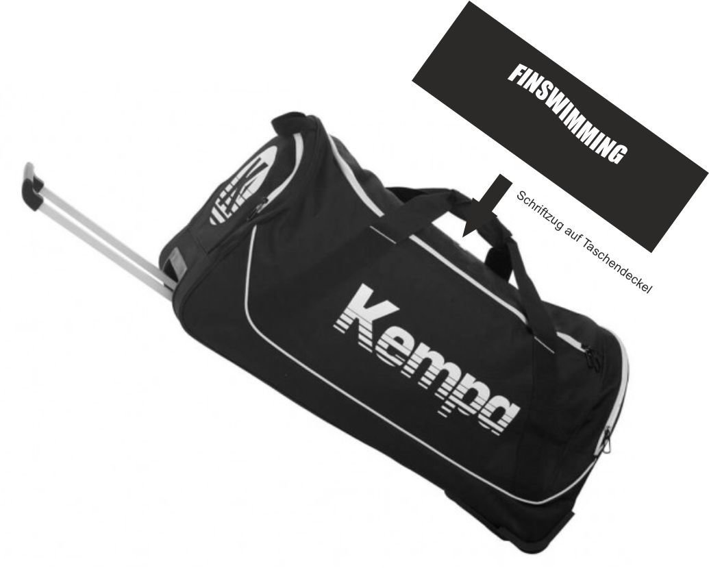Kempa Rollentasche schwarz BTSC Finswimming