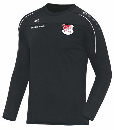 Jako Sweat Classico schwarz FV Rot Weiß Hellersdorf