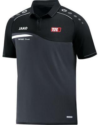 Jako Poloshirt Competition anthrazit schwarz Berliner TSC