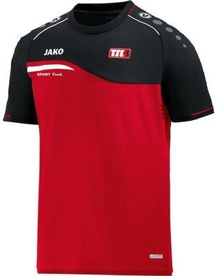 Jako T-Shirt Competition rot schwarz Berliner TSC