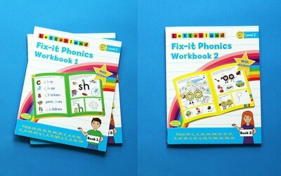 Fix-it Phonics Level 2 Workbook 1& 2 (2nd Edition) (рабочая тетрадь)