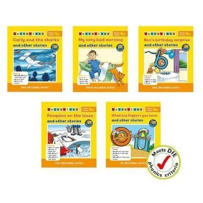 Phonics Readers Set 4 (5 книг/21 история)