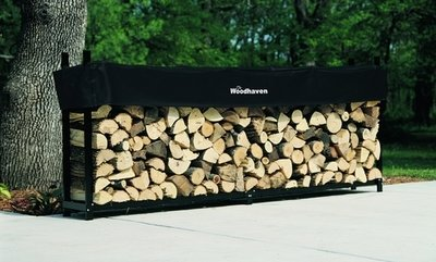 The Woodhaven 10ft - 1/2 Cord Plus Firewood Rack