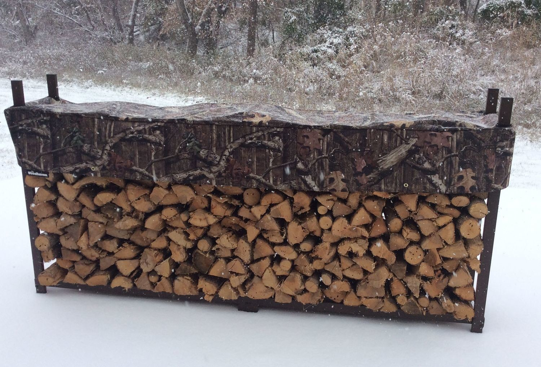 Mossy Oak 8ft 1/2 Cord Woodhaven Firewood Rack
