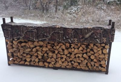 Mossy Oak 8ft 1/2 Cord Woodhaven Firewood Rack