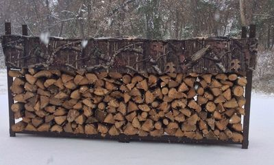 Mossy Oak 10ft 1/2 Cord Plus Woodhaven Firewood Rack