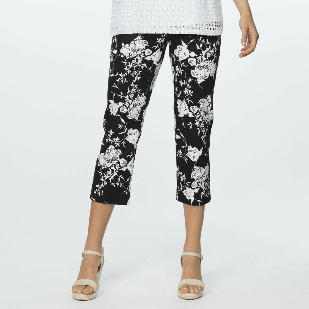 Stretch Cotton Floral Pant