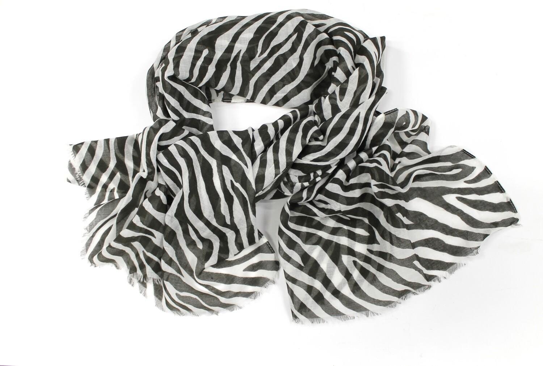 Black & White Zebra Print Scarf