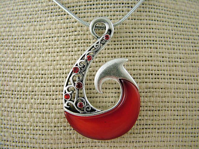Red Fish - Hook Pendant